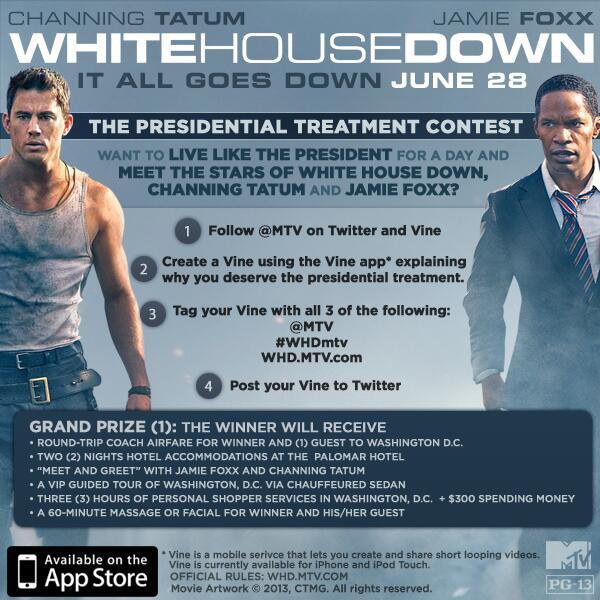channing tatum white house down contest meet and greet jamie foxx rare promo