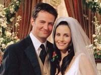 Chandler and Monica's wedding matthew perry courteney cox