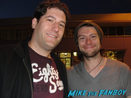Patrick Fugit fan phoo signing autographs outside God of Carnage in los angeles