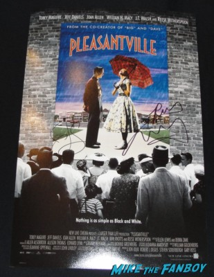 Jeff daniels reese witherspoon william h macy signed autograph pleasantville mini movie poster rare