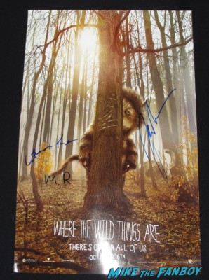 James Gandolfini signed where the wild things are one sheet mini poster signing autographs for fans rare tony soprano promo rare hot