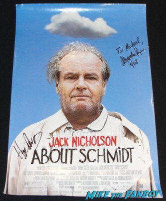 alexander payne and hope davis signed about schmidt mini movie poster rare