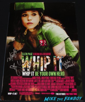 drew barrymore marcia gay hardin signed autograph whip it movie poster promo marcia gay hardin signing autographs for fans god of carnage rare