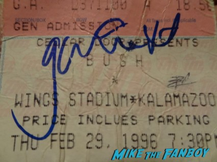 gavin rossdale signed ticket stub no doubt 1997 concert