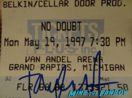 tom dumont signed ticket stub no doubt 1997 concert