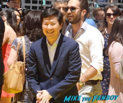 Ken Jeong not signing autographs Despicable Me 2 movie premiere red carpet steve carell rare