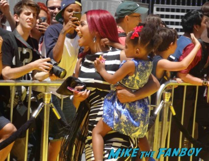 Christina Millian signing autographs Despicable Me 2 movie premiere red carpet steve carell rare