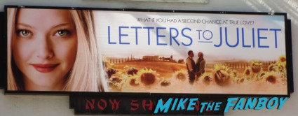 letters to juliet world movie premiere logo sign amanda seyfried ignoring fans