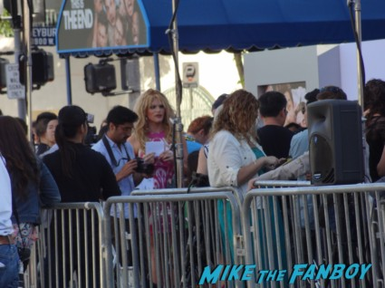 a drag queen at the this is the end movie premiere in westwood