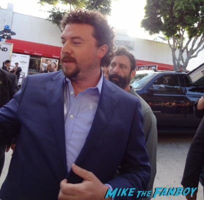 danny mcbride signing autographs  at the this is the end movie premiere in westwood