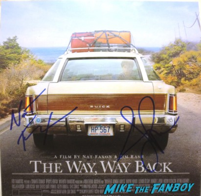Writers Nat Faxon And Jim Rash signed way way back promo poster concept art rare