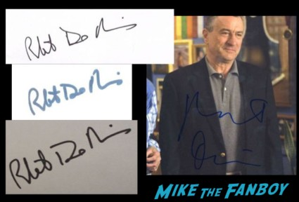 Robert DeNiro in person and fanmail autographs