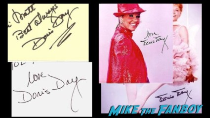 Doris Day in person and fanmail autographs