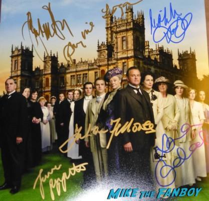 Downton Season 1Downton abbey Season 2 signed autograph cast mini poster rare promo hot