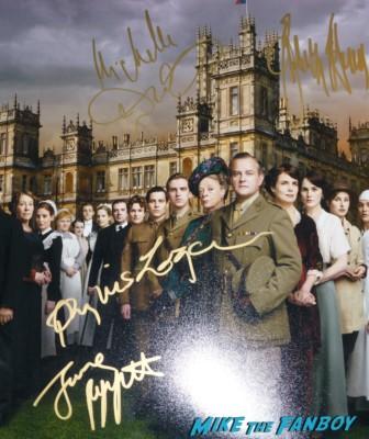 Downton abbey Season 2 signed autograph cast mini poster rare promo hot