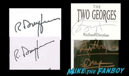 Richard Dreyfuss in person and fanmail autographs