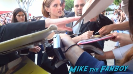 emma watson signing autographs  at the this is the end movie premiere in westwood Emma sees Red Bull