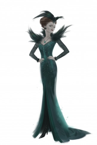 OZ: THE GREAT AND POWERFUL  Evanora Costume Sketch  ?Disney Enterprises, Inc. All Rights Reserved.