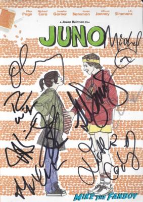 Juno signed autograph cast dvd cover rare ellen page michael cera jennifer garner