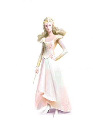 OZ: THE GREAT AND POWERFUL Glinda Costume Sketch ©Disney Enterprises, Inc. All Rights Reserved. Artist: Michael Kutsche