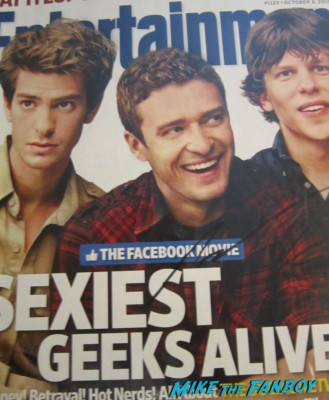 andrew garfield signed autograph signature entertainment weekly rare promo magazine