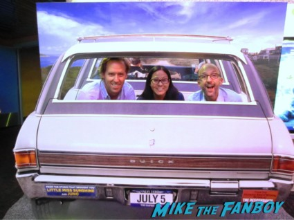 Writers Nat Faxon And Jim Rash posing for photos at a q and a rare signed way way back promo poster concept art rare