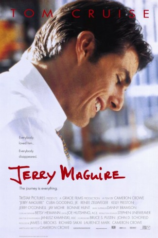 Jerry maguire movie poster one sheet promo cuba gooding Jr. Tom Cruise rene zellwiger Jerry Maguire promo press still hot rare dance