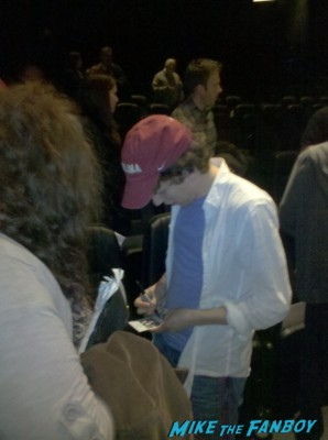 Jesse eisenberg signing autographs rare promo now you see me q and a Zombieland signing