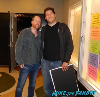 joss whedon fan photo rare buffy the vampire slayer Joss Whedon signing autographs aero theater much ado about nothi 004