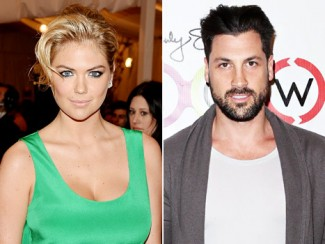 "Kate Upton and ""Dancing with the Stars"" bad boy Maksim Chmerkovskiy rare promo headshot"