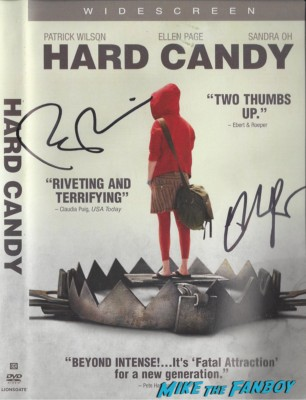 ellen page patrick wilson signed autograph Hard Candy DVD cover