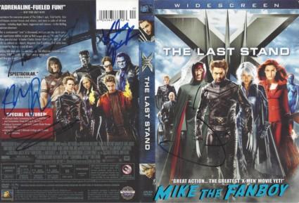 X-Men the last stand ellen page hugh jackman signed autograph dvd sleeve rare kitty pryde