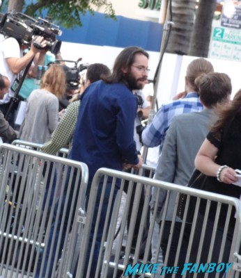 Martin Starr signing autographs  at the this is the end movie premiere in westwood Emma sees Red Bull