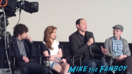 Now You see Me q and a with isla fisher and jesse eisenberg Now you see me cast photo rare promo hot