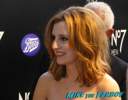 Laura Carmichael signing autographs for fans downton abbey event television academy