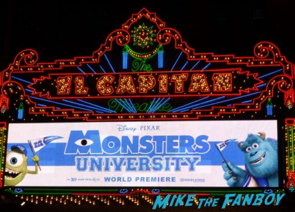 Monsters university premiere marquee sign rare billy crystal