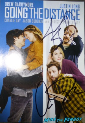 Charlie Day signed going the distance dvd cover Charlie Day Signing autographs for fans Monsters university premiere marquee sign rare billy crystal