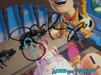 John Ratzenberger signed toy story laserdisc rare Monsters university premiere marquee sign rare billy crystal