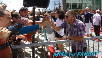 Pitbull Arriving to the jennifer lopez walk of fame star ceremony