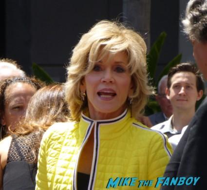 Jane Fonda Arriving to the jennifer lopez walk of fame star ceremony