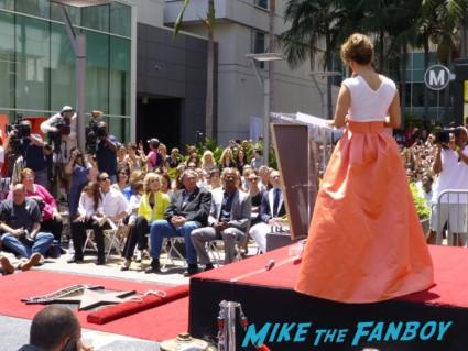 Jennifer Lopez giving her speech at jennifer lopez walk of fame star ceremony