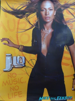 Jennifer Lopez signed autograph tour poster Jennifer Lopez giving her speech at jennifer lopez walk of fame star ceremony