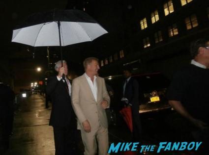 Kevin Costner signing autographs for fans Man Of Steel Movie Premiere