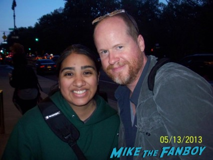 Joss Whedon signing autographs for fans rare agents of shield