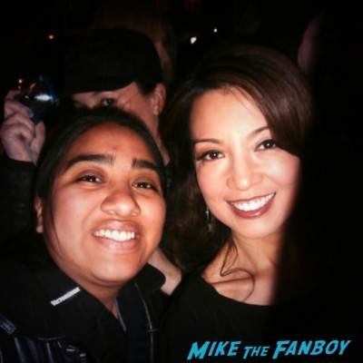 Ming-Na Wen fan photo signing autographs for fans rare promo
