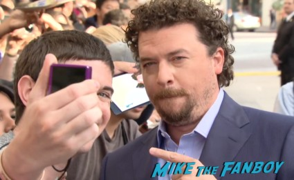 danny mcbride signing autographs for fans This Is The End Movie Premiere red carpet
