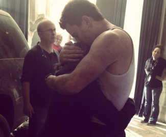 channing tatum white house down behind the scenes still rare promo hot sexy channing tatum muscle flex rare shirtless sexy hot rare