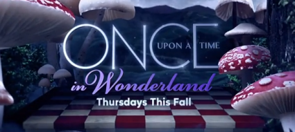 once upon a time in wonderland logo abc new series rare promo