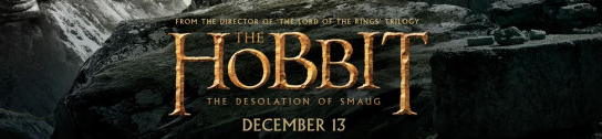 The Hobbit: The Desolation of Smaug logo one sheet movie poster promo