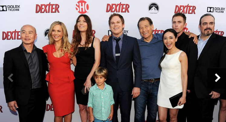 the dexter cast at the dexter season 8 red carpet premiere photos michael c hall julie benz